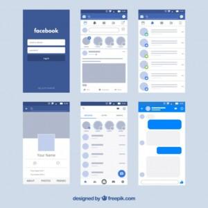 UX design example Facebook