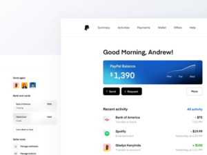 UX design example paypal